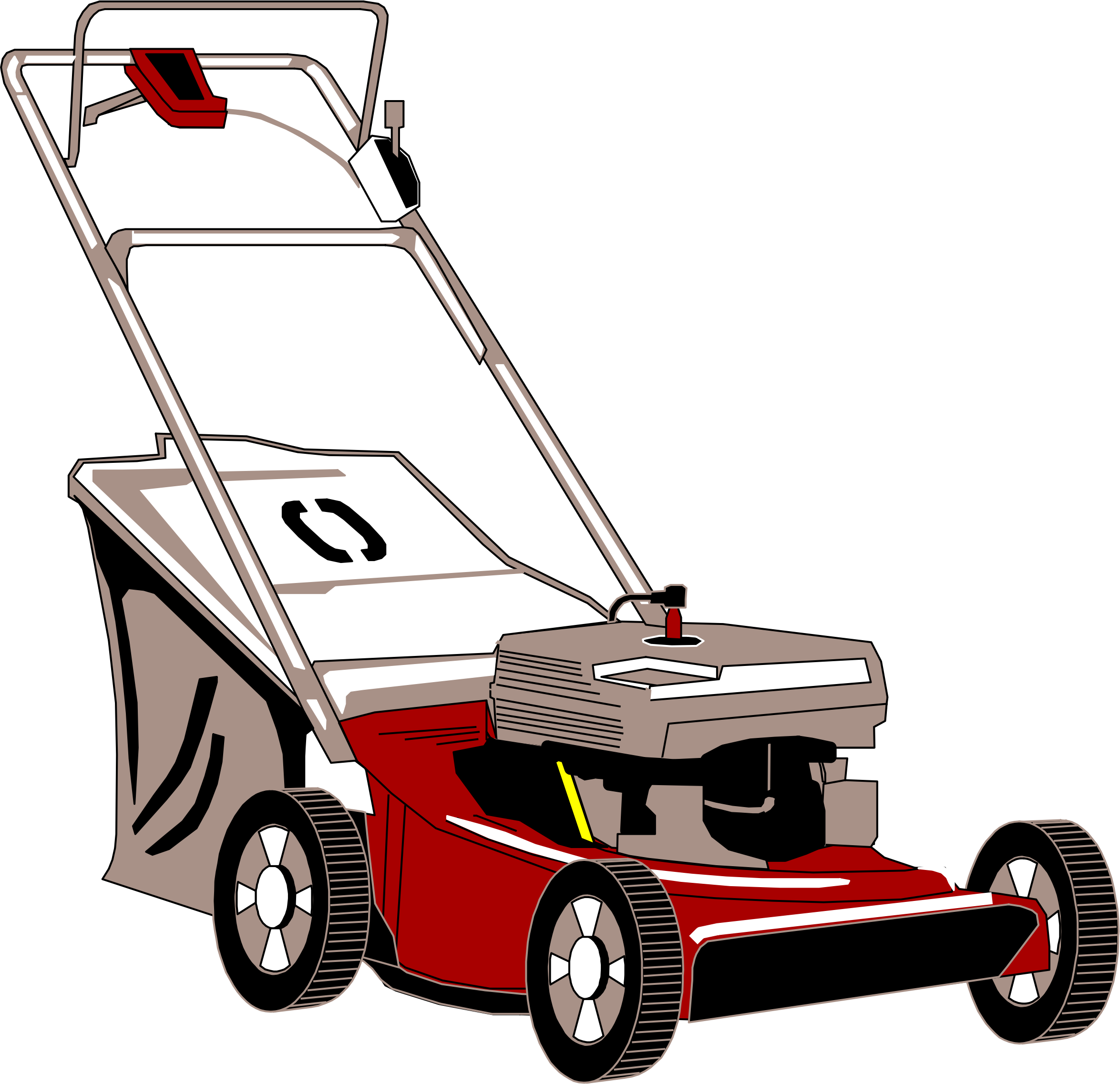 Free photo lawn mower. Mowing clipart ride on