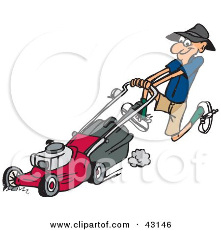 Mowing clipart lawnmower man. Free clip art downloads