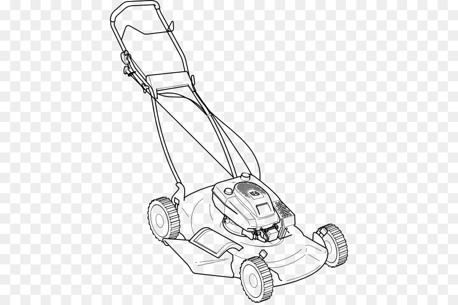 Lawn mowers line art. Mowing clipart small engine