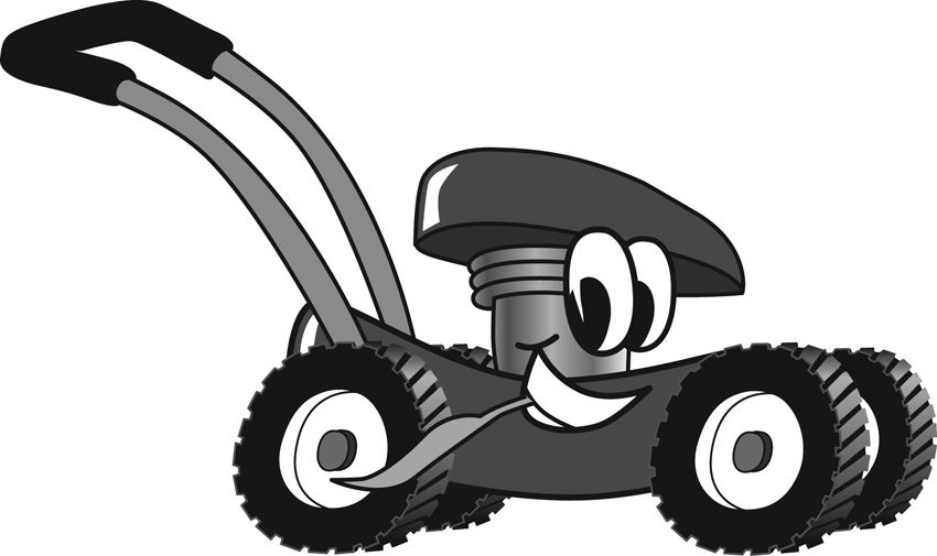 Lawnmower clipart small engine. Free lawn mower image