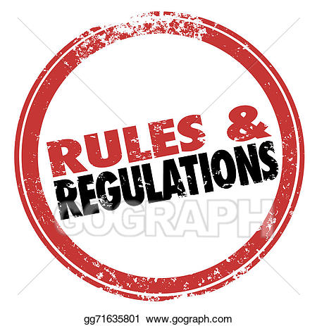 Laws clipart. Stock illustration rules and