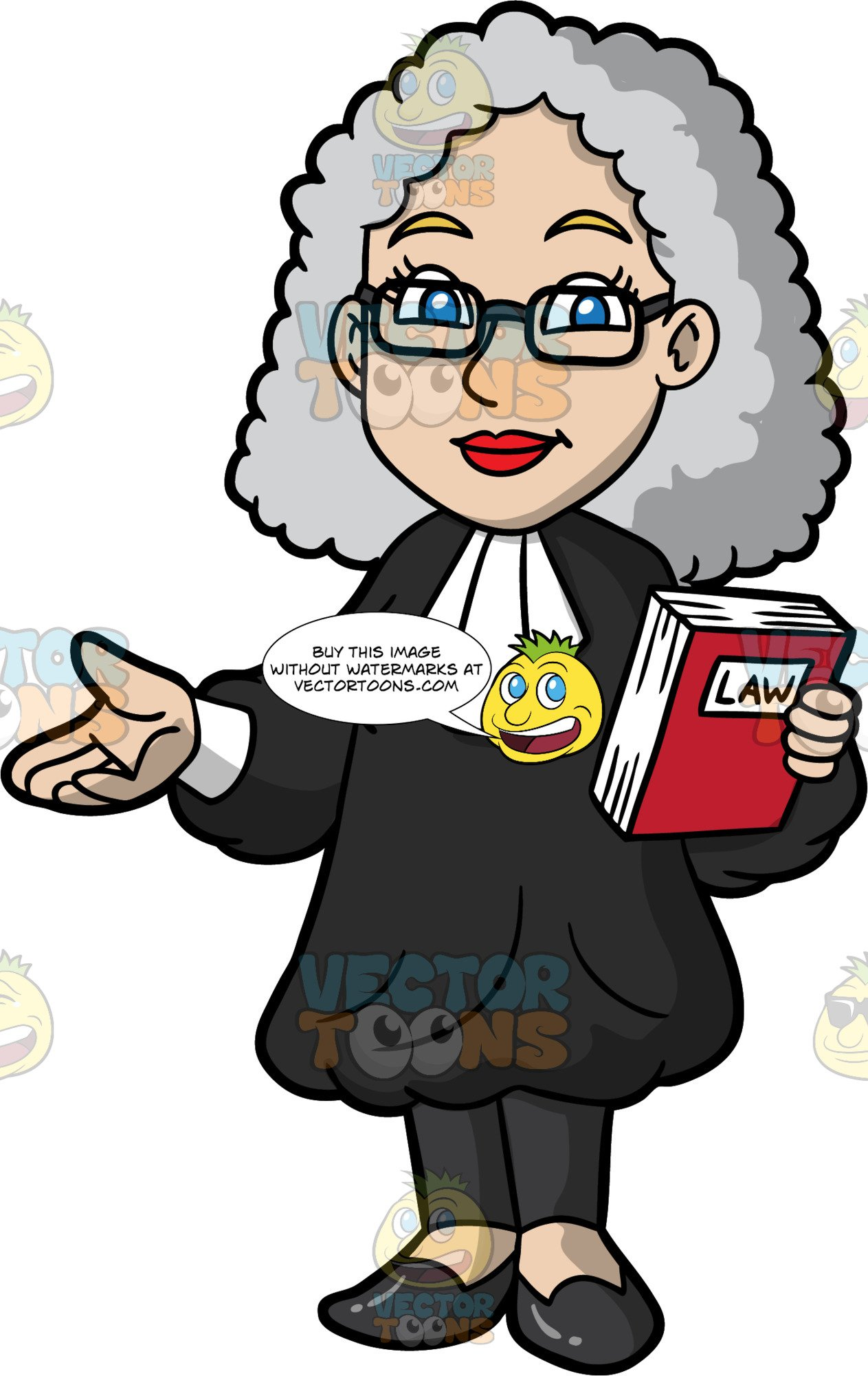 A female holding law. Laws clipart barrister