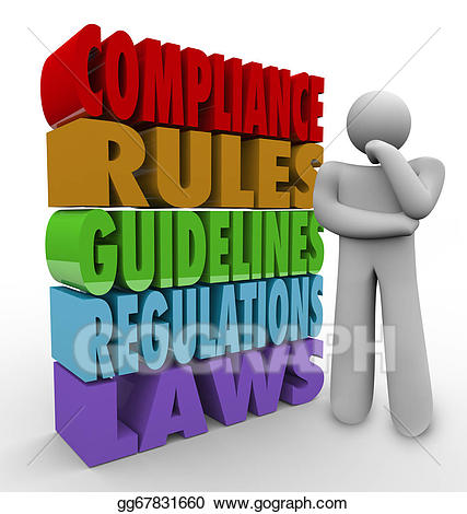 Legal clipart legal compliance. Rules thinker guidelines