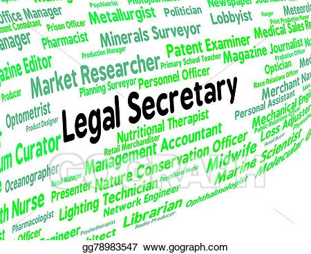 Drawing represents clerical assistant. Lawyer clipart legal secretary