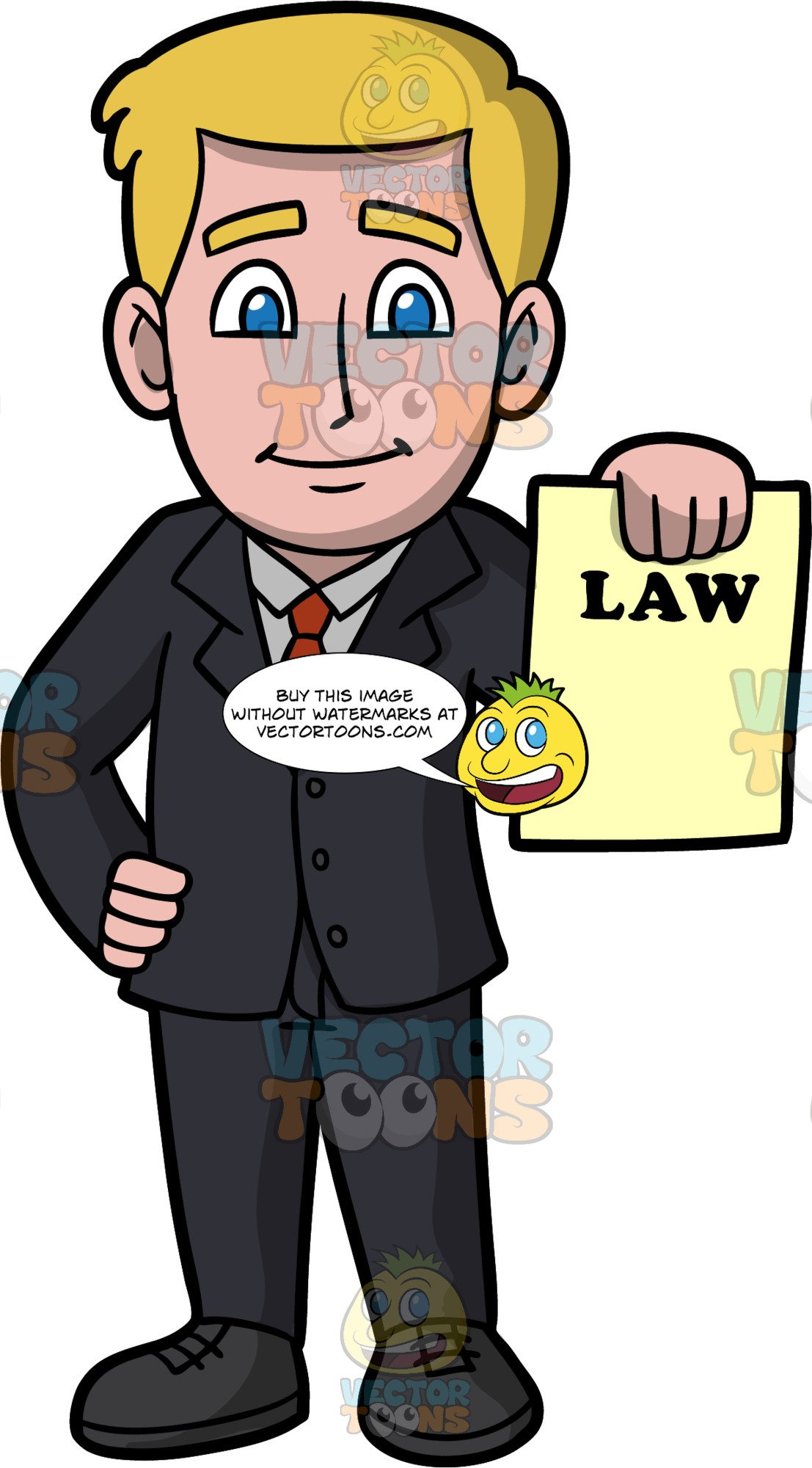 Lawyer clipart male lawyer. A holding legal document