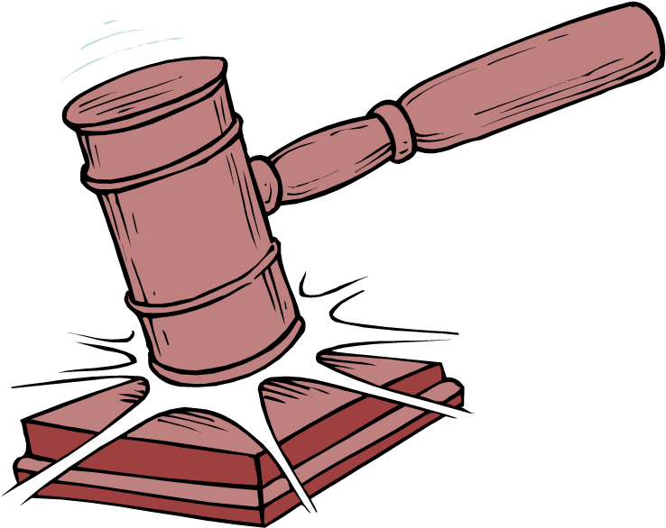Transparent library of rules. Lawyer clipart rule law