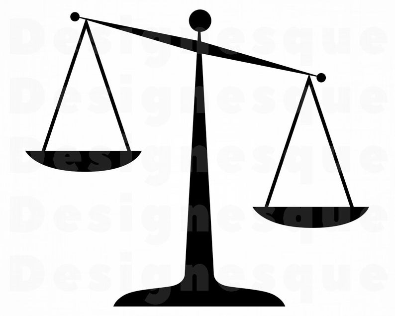 Scales of justice svg. Lawyer clipart scale