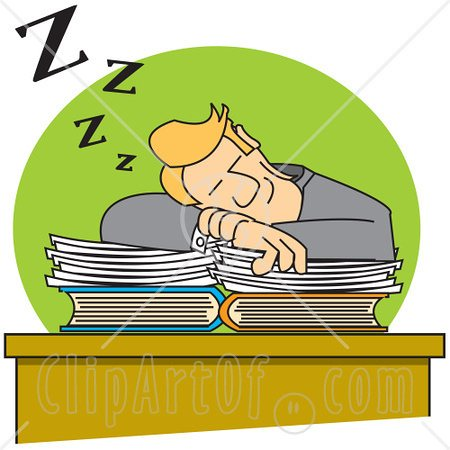 Student . Lazy clipart