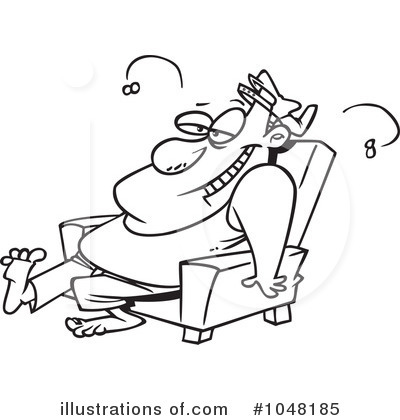 Lazy clipart. Illustration by toonaday royaltyfree