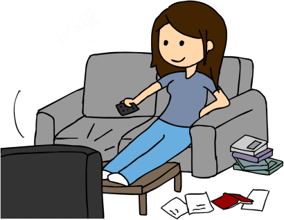 Lazy clipart.  collection of girl