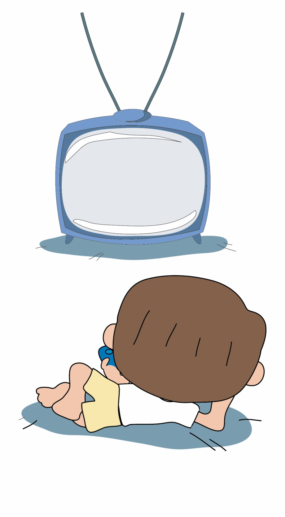 Lazy clipart couch tv. Kids watching drawing free