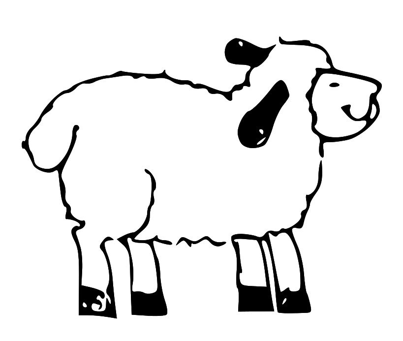 Sheep clip art library. Lds clipart animal