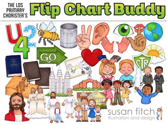Primary song leader flip. Lds clipart chart