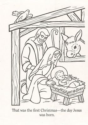 Lds clipart christmas. Nursery color pages lesson