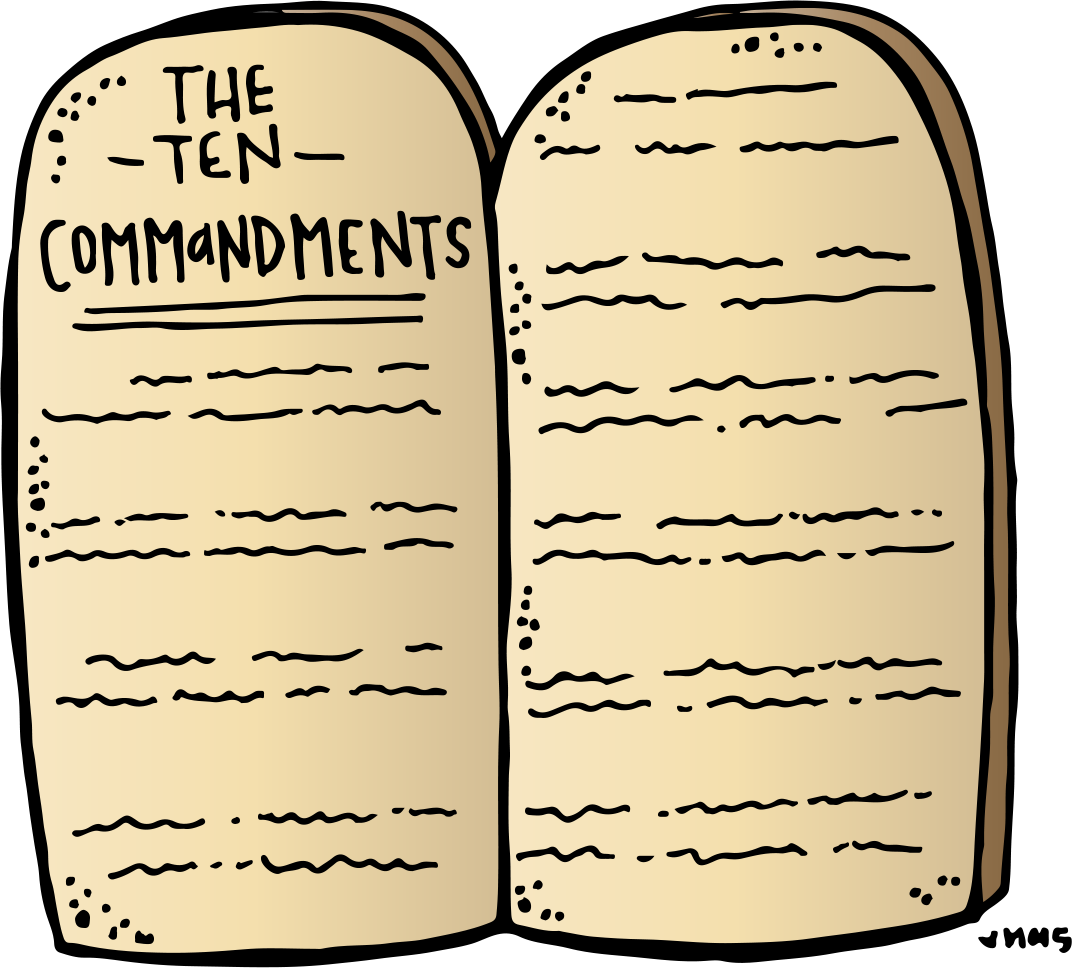 Lds clipart clip art. Commandments ten
