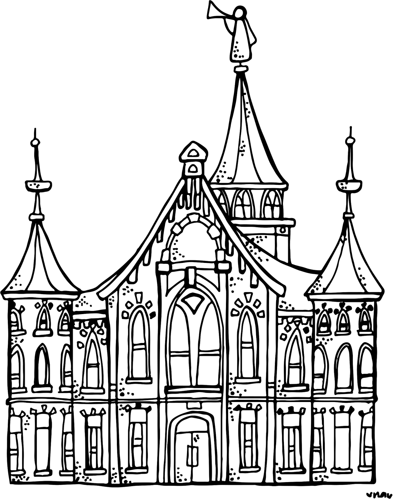 Lds clipart coloring page. Temple pages free download