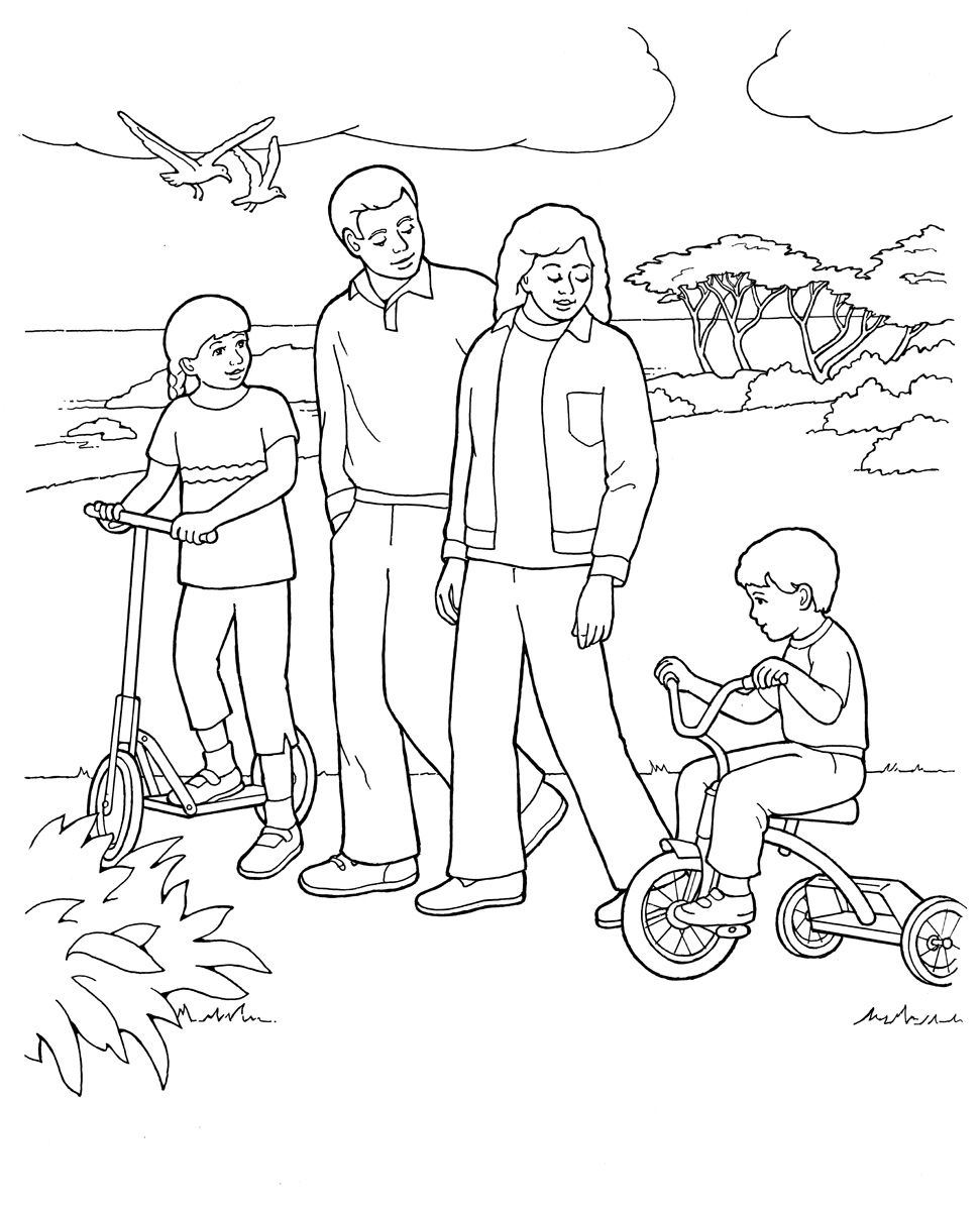 Free to color for. Lds clipart coloring page