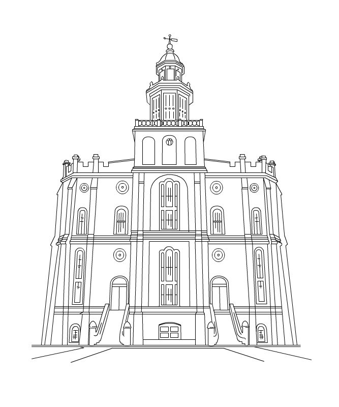 Free to color for. Lds clipart drawing