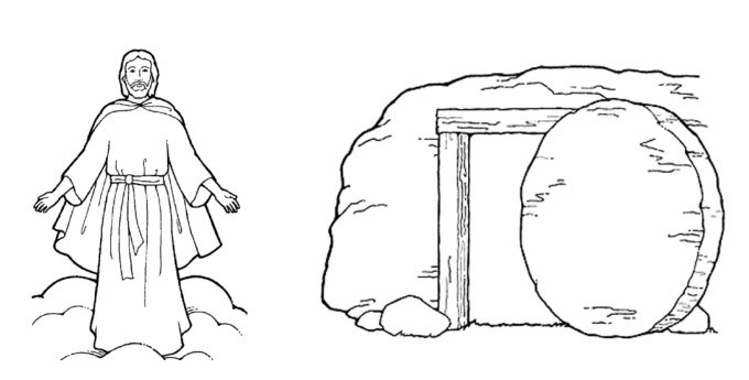 Lds clipart easter. Black and white free