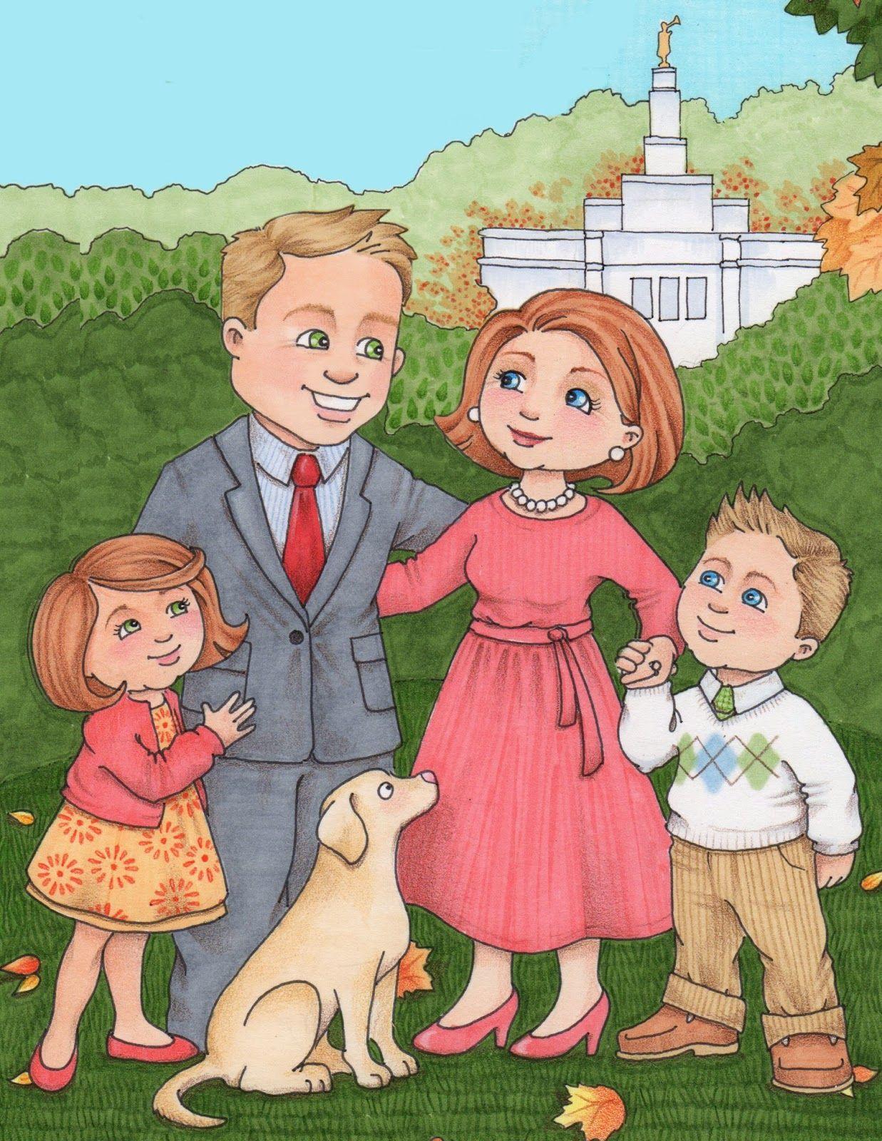 Lds clipart family. Susan fitch design families