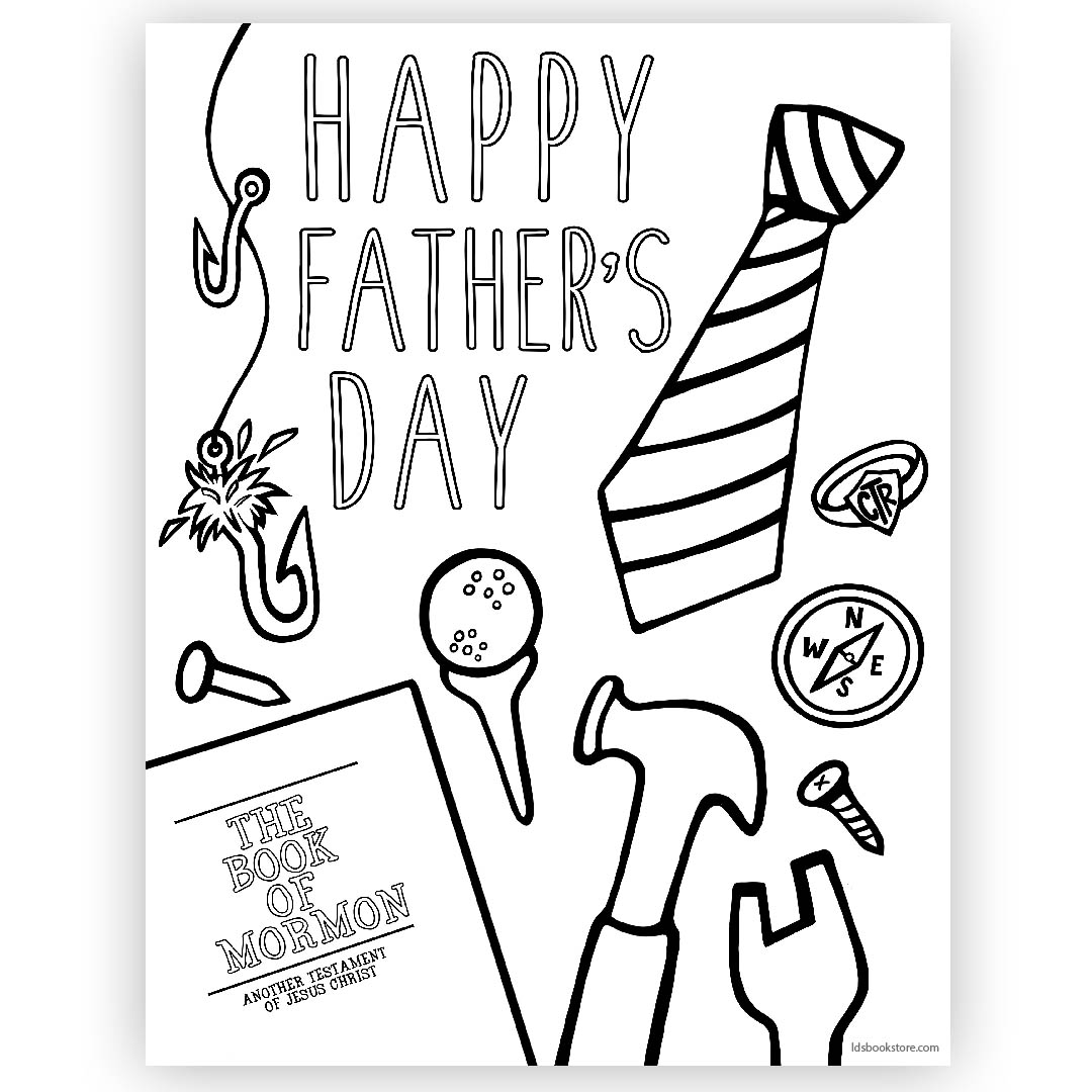 Happy father s coloring. Lds clipart fathers day