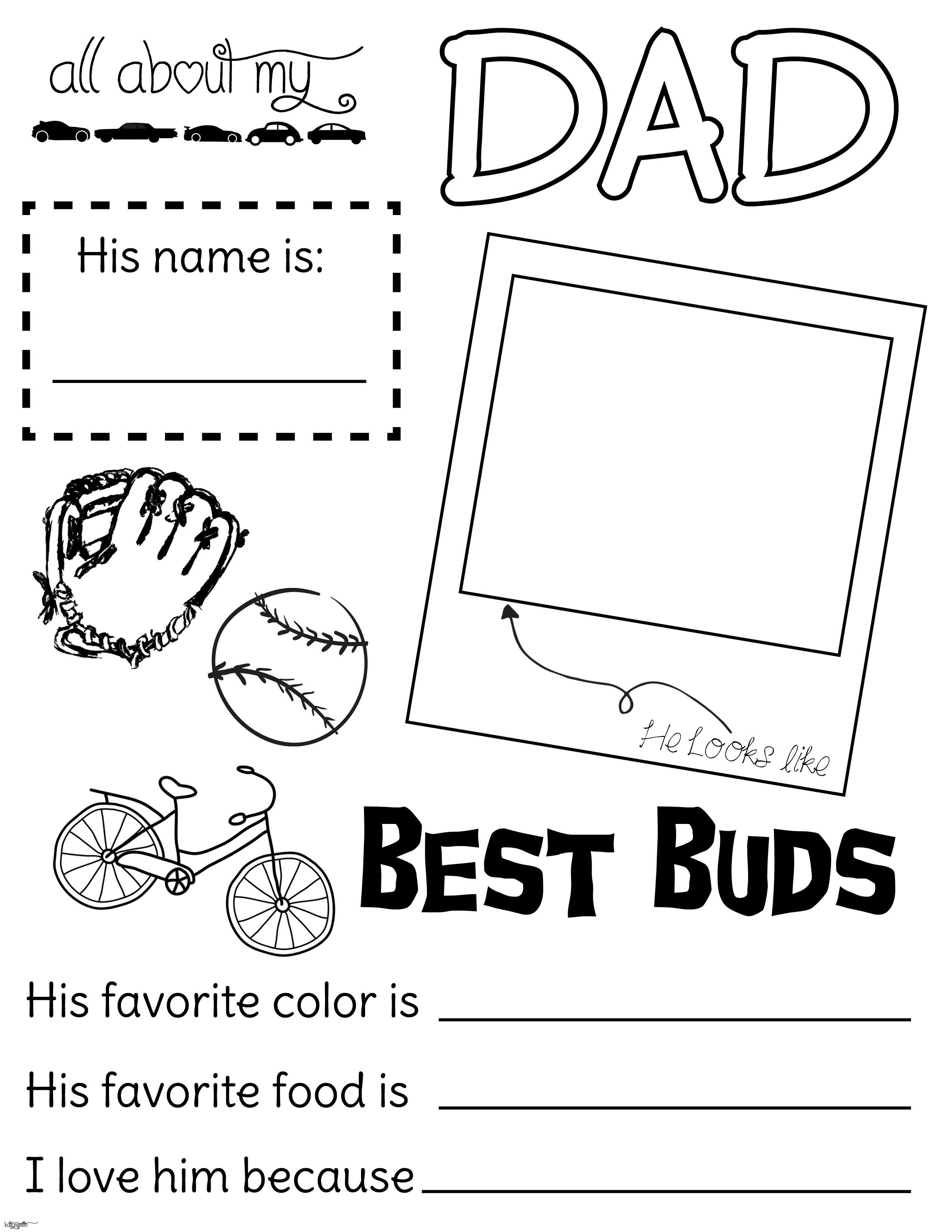 All about my dad. Lds clipart fathers day