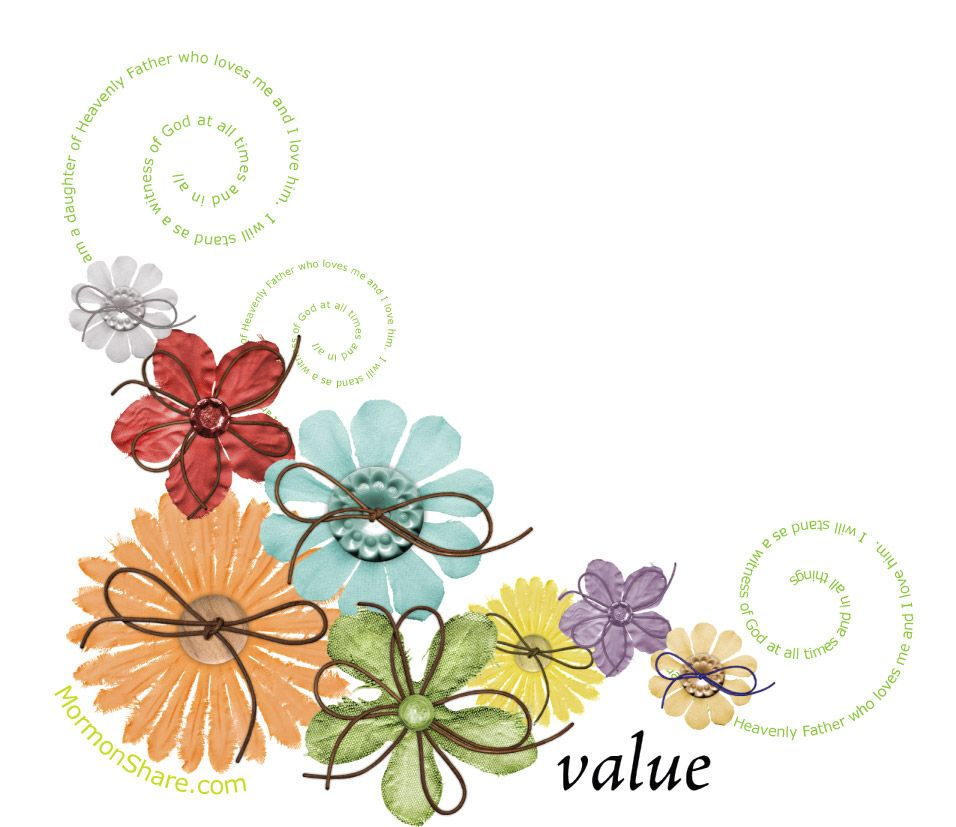 Lds clipart flower. Pin on young women