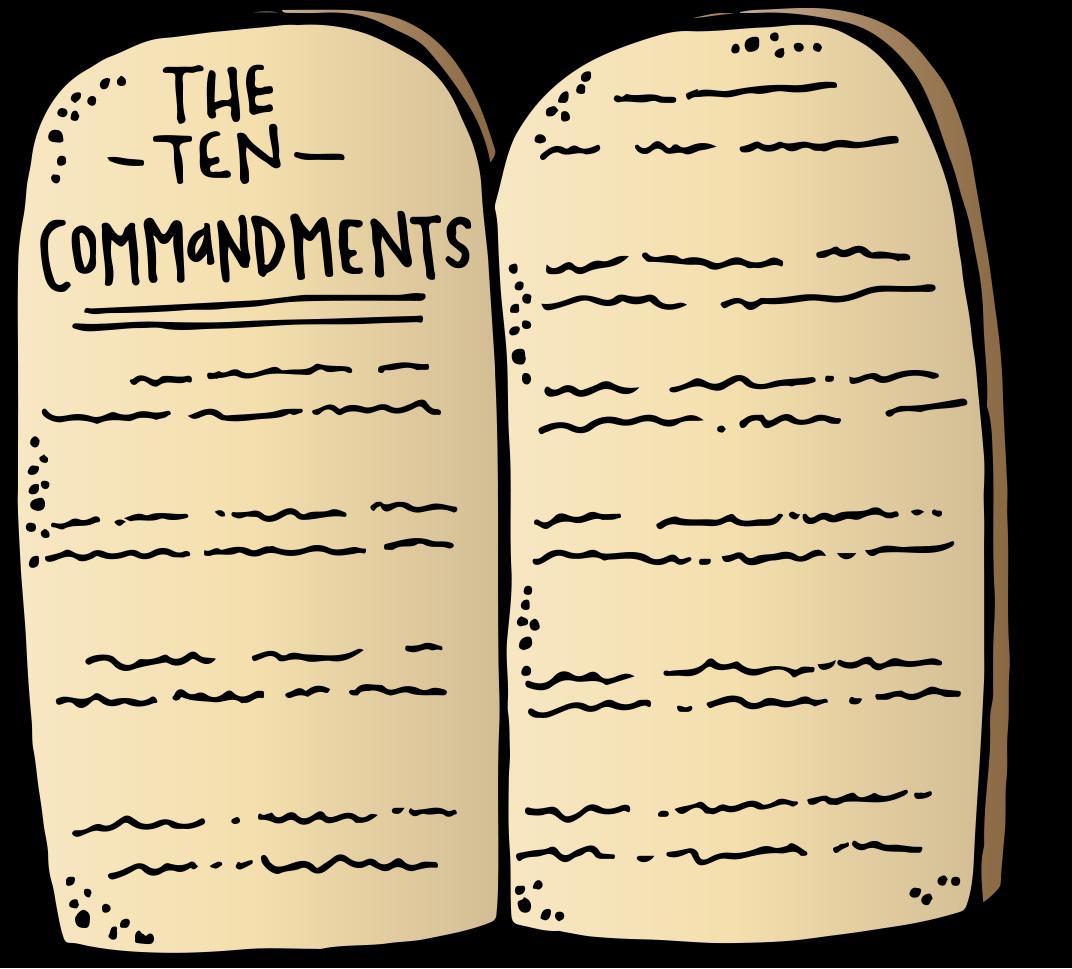 Ten commandments clipart kid coloring page. Melonheadz lds illustrating freebie