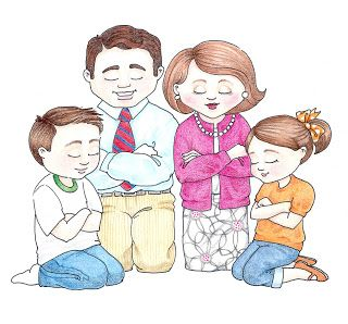 Susan fitch design family. Lds clipart illustration
