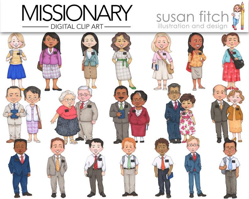 Missionary clip art . Lds clipart illustration