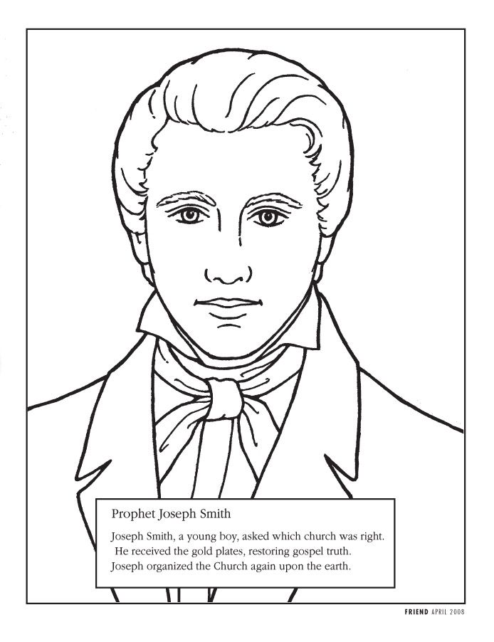 Primary music leader . Lds clipart joseph smith