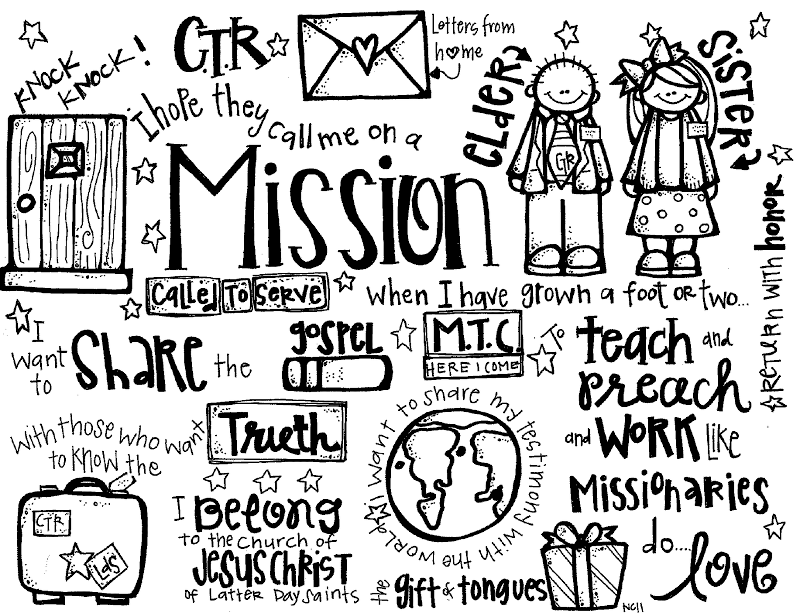 Mormon lds missionary clip. Missions clipart black and white