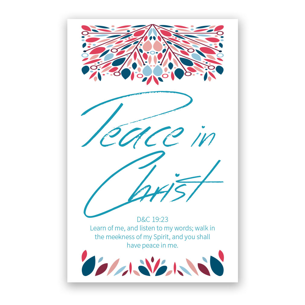Lds clipart peace. In christ poster printable