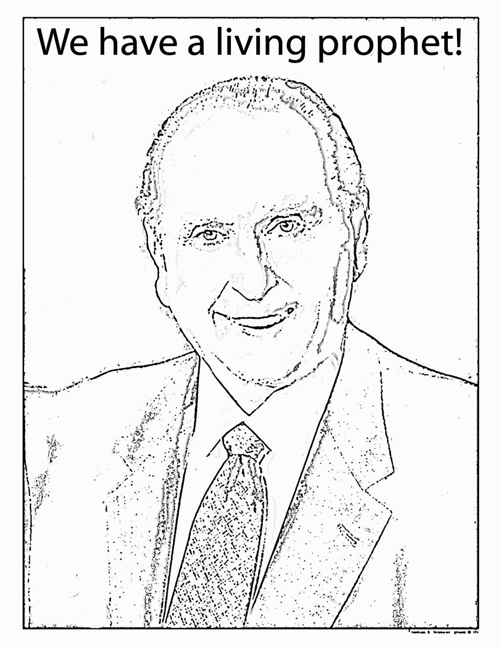 Lds clipart president monson. Coloring pages