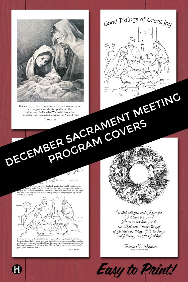 Lds clipart program. December covers music sacrament