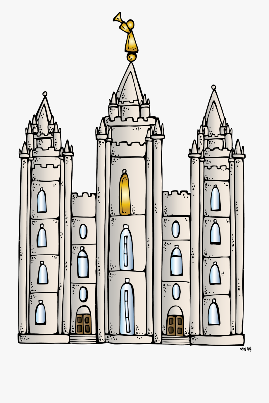 Missionary primary child . Lds clipart temple