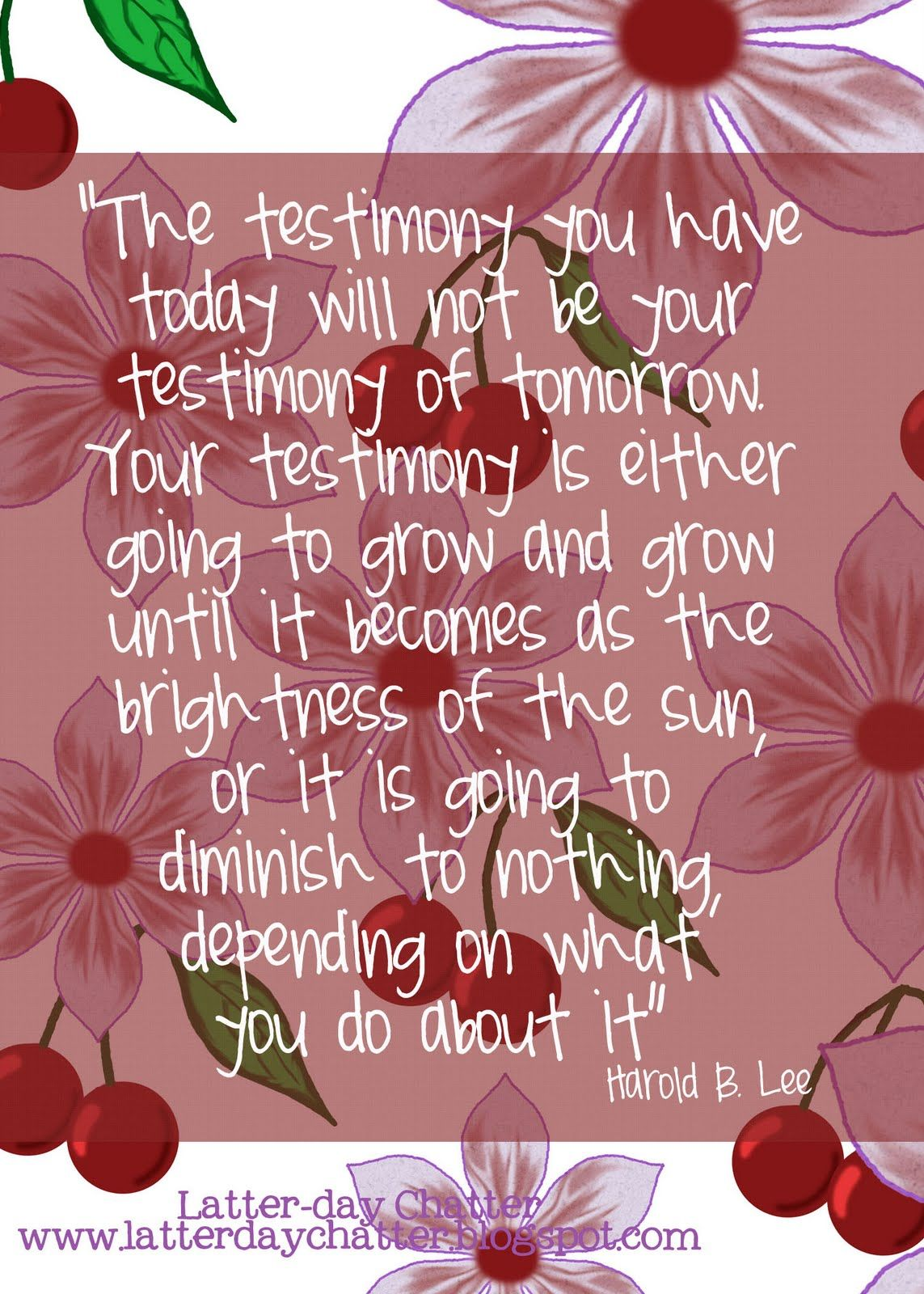 Google search inspirational quotes. Lds clipart testimony