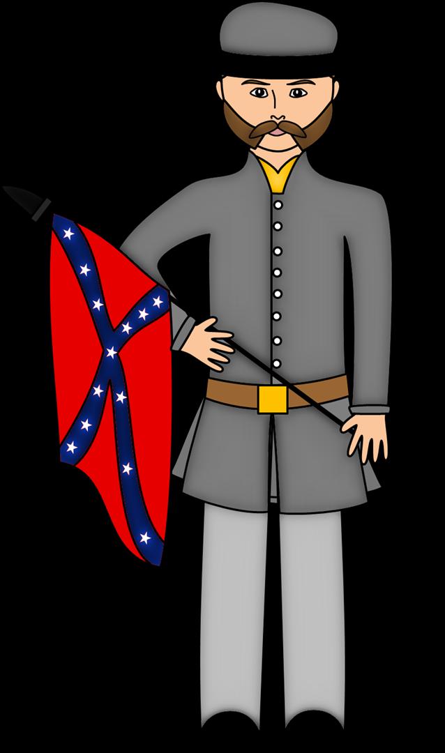 Leader clipart cartoon. Civil war leaders