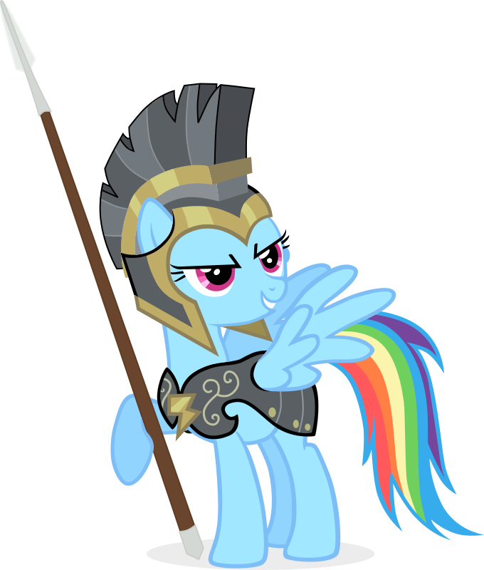 Rainbow dash as commander. Leader clipart insubordination