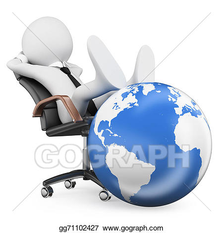 People in balance argument. Leader clipart powerful person