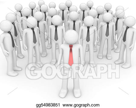 Leader clipart team manager. Meeting stock illustration gg