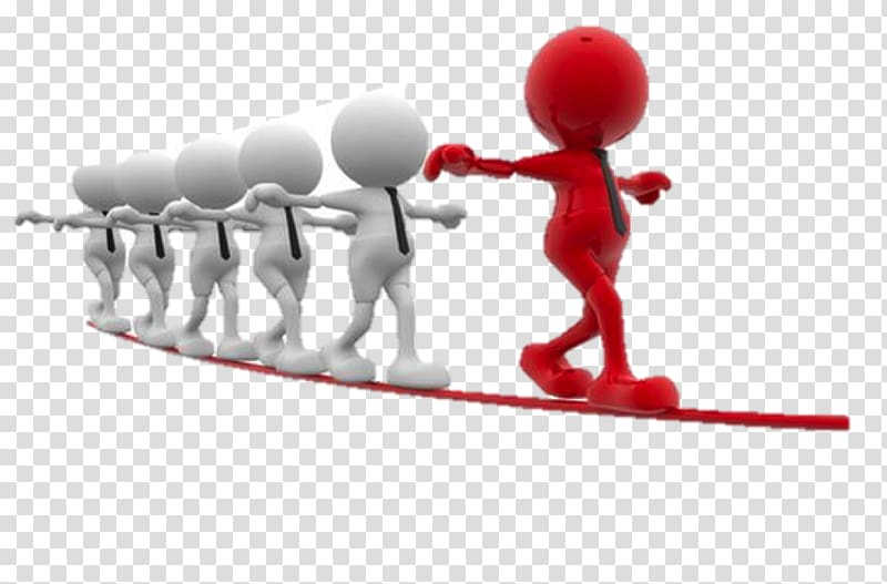 Five white and red. Teamwork clipart leadership style