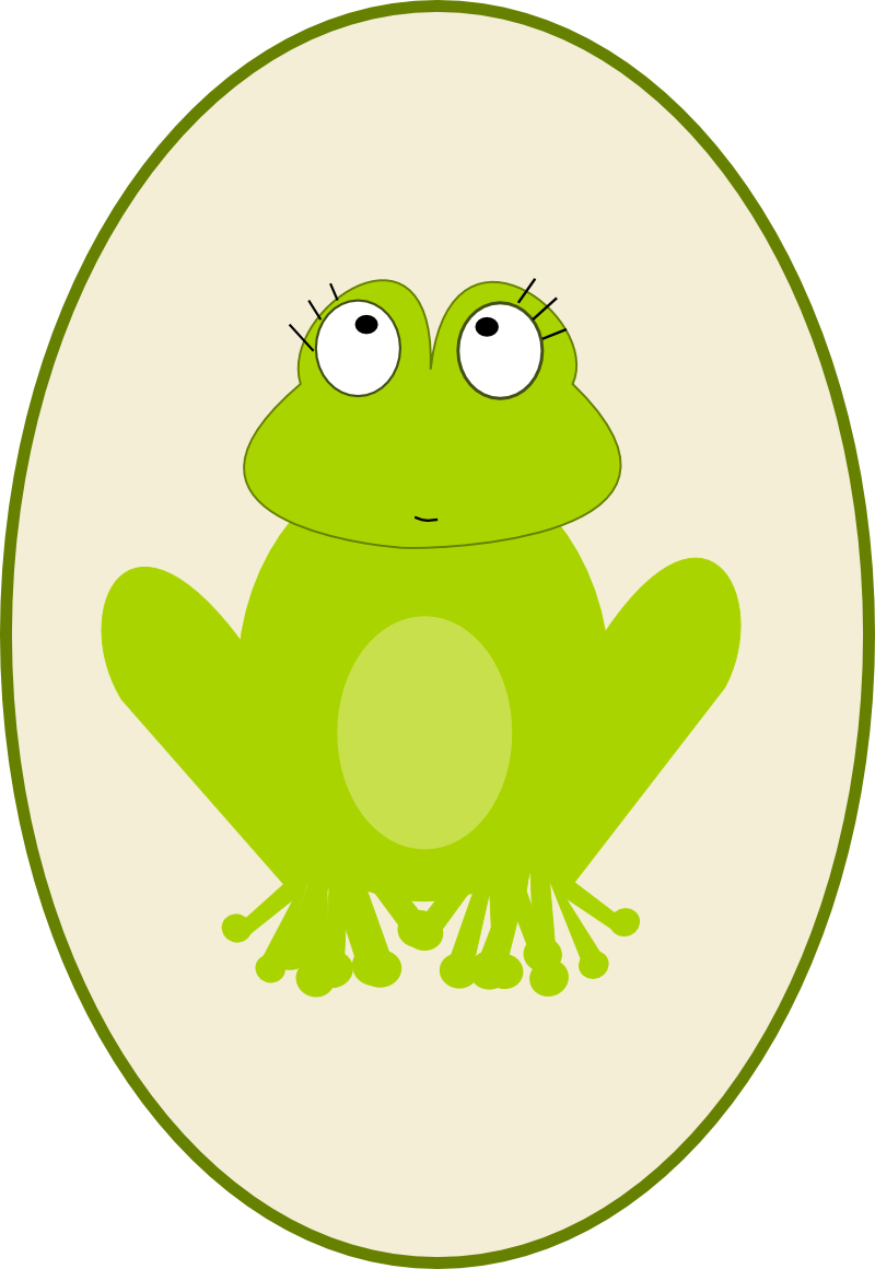 Free digital scrapbooking embellishment. Leaf clipart frog