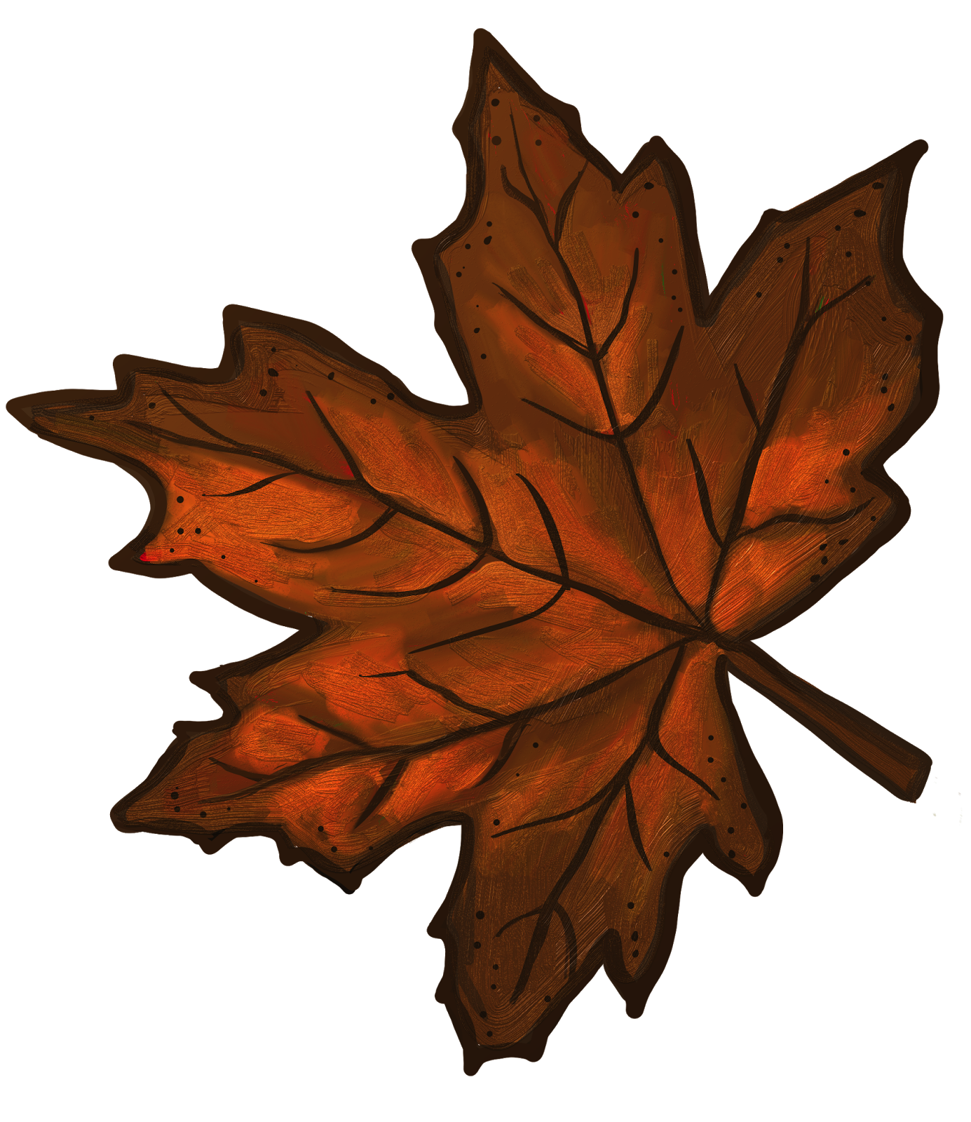 Leaf clipart kid. Maple brown png a