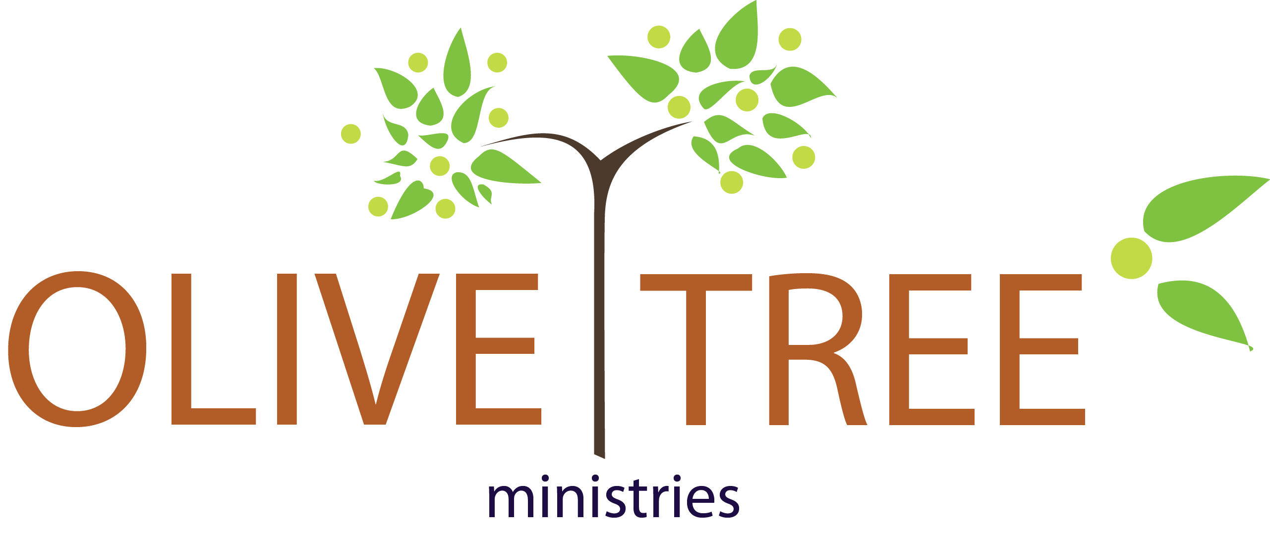 Welcome to ministries logo. Leaf clipart olive tree