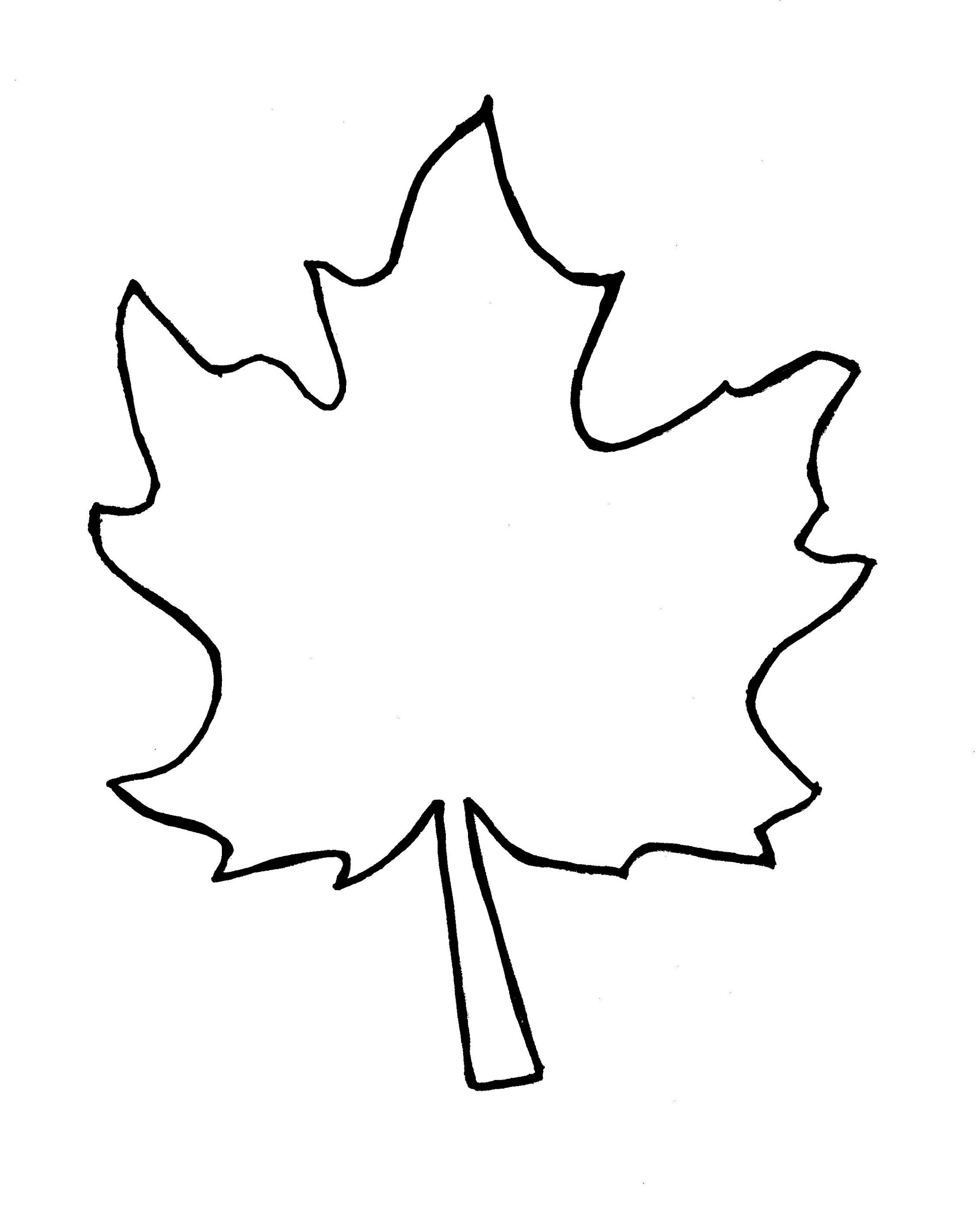 Leaves clipart outline. Autumn leaf template free