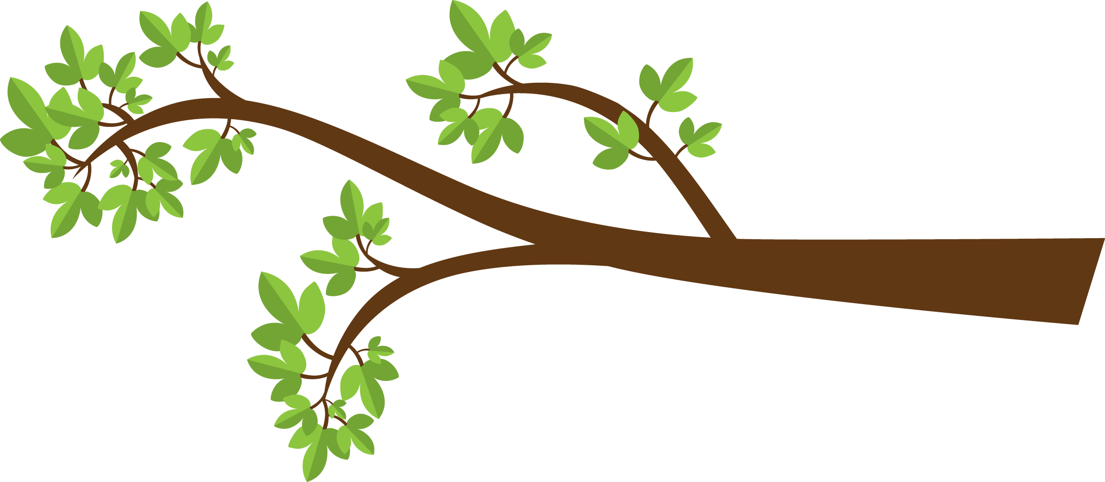 Collection green branch cliparts. Leaf clipart twig