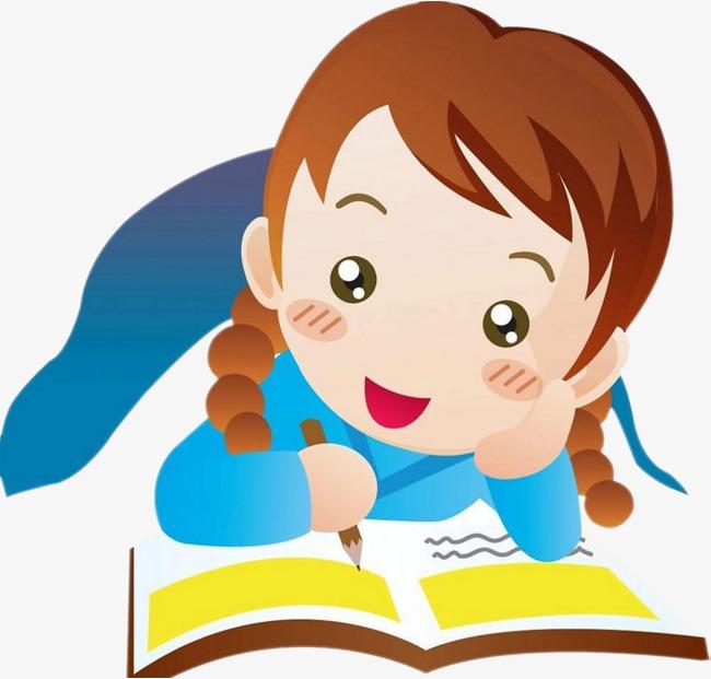 Learn clipart. Learning girl stroke png