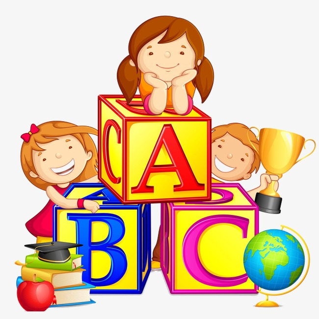 Learn clipart. Children illustration learning materials