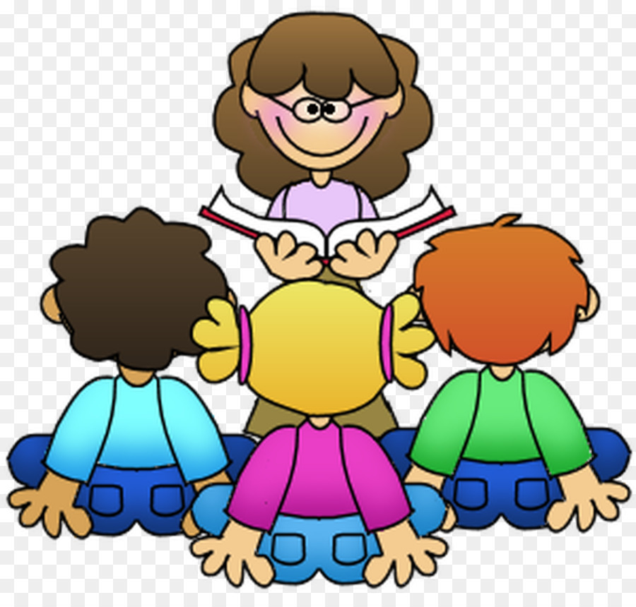 Teacher reading to students. Learning clipart 5 student